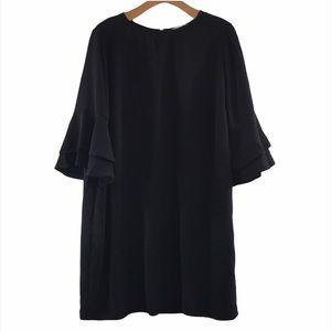 Soft Surroundings Principessa Shift Dress Black